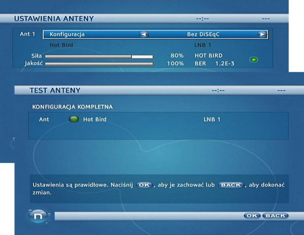 Antena Satelitarna Test